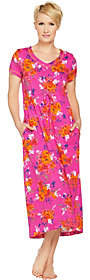 Stan Herman Petite Vibrant Gardens Cotton Hi-LoLounge Dress