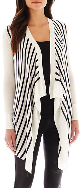 MNG by Mango Drape-Front Cardigan Sweater