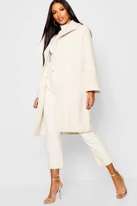 boohoo Oversized Brushed Wool Look Coat