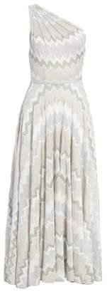 Missoni Metallic Chevron One Shoulder Gown