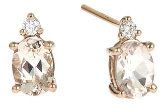JCPenney FINE JEWELRY LIMITED QUANTITIES Genuine Morganite and Diamond-Accent Earrings