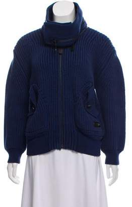 Burberry Chunky Cable Knit Jacket