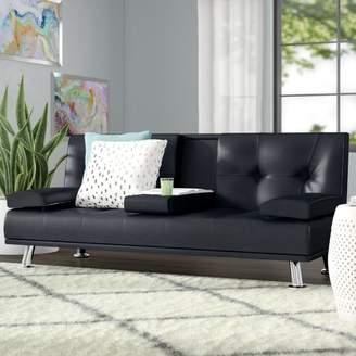 Wrought Studio Guiterrez Center Console Sleeper Sofa
