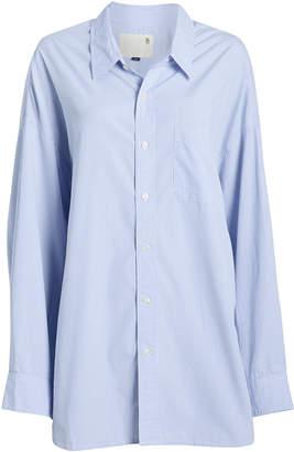 R 13 Striped Oxford Poplin Shirt