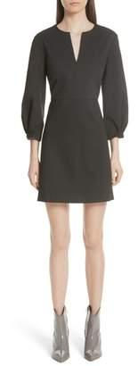 Tibi Bond Stretch Knit Puff Sleeve Dress
