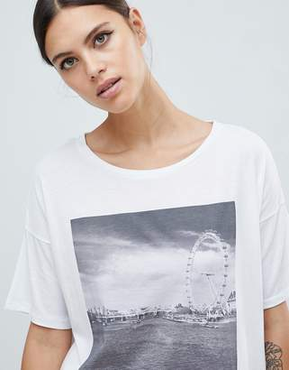 French Connection London Eye Print T-Shirt