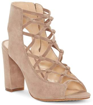 Vince Camuto Women's Stesha Caged Suede Block Heel Sandals