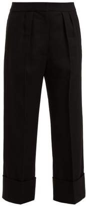 Burberry (バーバリー) - Burberry - Cropped Wool And Silk Blend Trousers - Womens - Black
