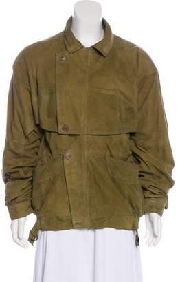 Celine Suede Zip-Up Jacket