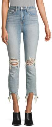 L'Agence Highline High-Rise Skinny Distressed Jeans