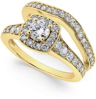 Macy's Diamond Frame Bridal Set (1-1/4 ct. t.w.) in 14k Yellow or White Gold