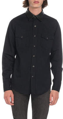 Saint Laurent Men's Western Shirt