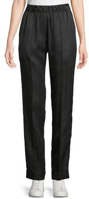 Helmut Lang Pleated Silk-Blend Suit Pants