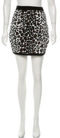 A.L.C.A.L.C. Leopard Print Knit Mini