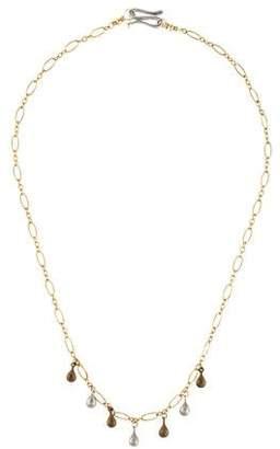 Elizabeth Showers 18K Teardrop Station Necklace