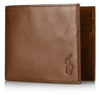 Ralph Lauren Burnished Leather Billfold Wallet