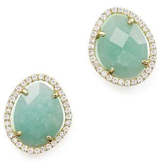 Meira T 14K Yellow Gold Amazonite Stud Earrings with Diamonds