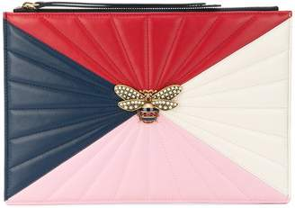 Gucci bee oversized clutch