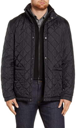 Cole Haan Quilted Jacket with Knit Bib