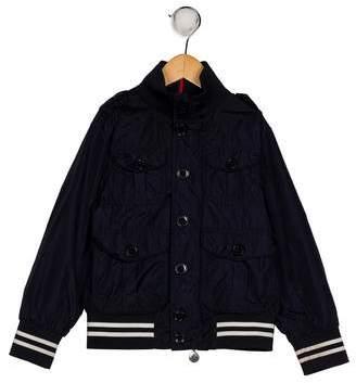 Moncler Boys' Mock Neck Zip-Up Jacket