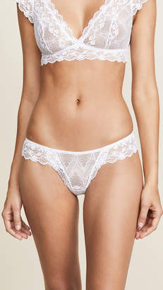 Eberjey Kiss the Bride Ruffle Thong