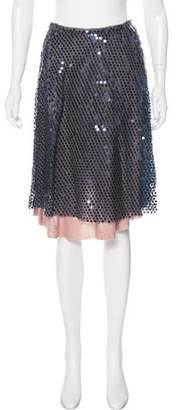 Loyd/Ford Sequin A-Line Knee-Length Skirt