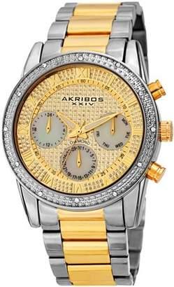Akribos XXIV Silver Tone Dress Quartz Watch With Stainless Steel Strap [AK1040TTG]