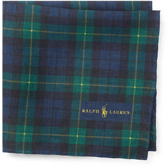 Ralph Lauren Tartan Linen Pocket Square