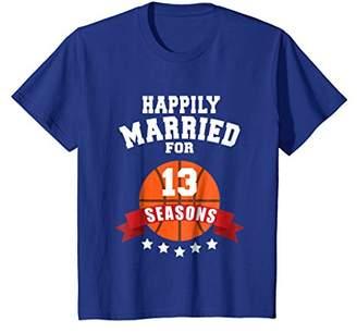 13th Wedding Anniversary T-Shirt Basketball Couple Gift Tee