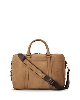 Shinola Men's Outrigger Slim Leather Laptop Briefcase