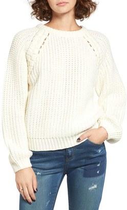 Women's J.o.a. Chunky Knit Raglan Sweater