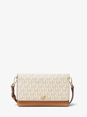 Michael Kors Logo And Leather Convertible Crossbody Bag