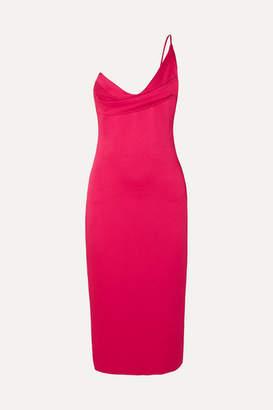 Cushnie One-shoulder Draped Hammered-satin Dress - US0