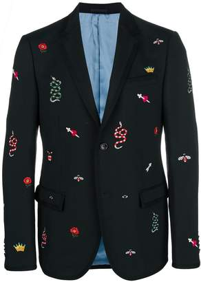 Gucci embroidered blazer