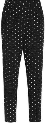 Givenchy Tapered Pants In Cross-Print Black Cady