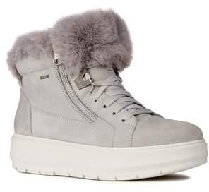Geox Kaula ABX Waterproof Faux-Fur Cuff Sneaker