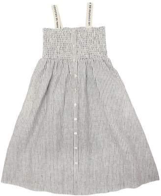 Striped Linen Long Dress