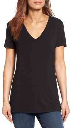 Women's Halogen V-Neck Tunic Tee $29 thestylecure.com