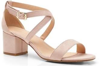 b5d1bd41d1d Cross Strap Nude Heels - ShopStyle UK