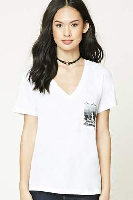 FOREVER 21+ Los Angeles Graphic V-Neck Tee $8.90 thestylecure.com