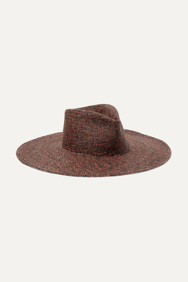 CLYDE Pinch Straw Panama Hat - Brick