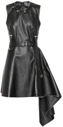 Alexander McQueen Belted leather dress