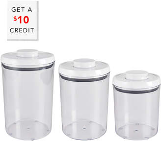 OXO Good Grips 3 Piece Pop Round Canister Set With $10 Rue Credit