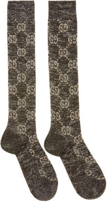 Gucci Black Crystal GG Socks
