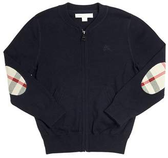 Burberry Zip-Up Cotton Tricot Cardigan