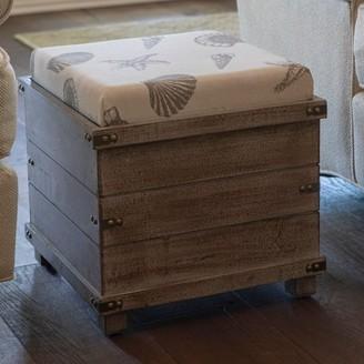 Decor Therapy Hadley Weathered Storage Ottoman