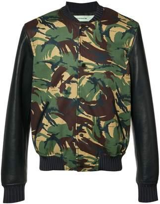 Off-White camouflage bomber jacket