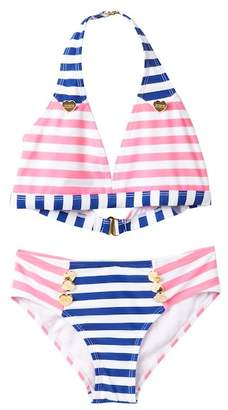 Juicy Couture Black Label Halter Top with Contrasting Stripes (Big Girls)