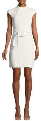 Theory Mod Belted Spring Boucle Dress