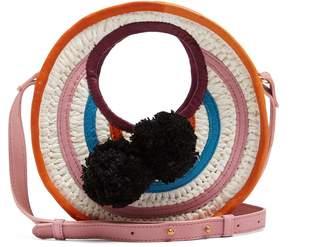 SOPHIE ANDERSON Perla mini circle raffia cross-body bag